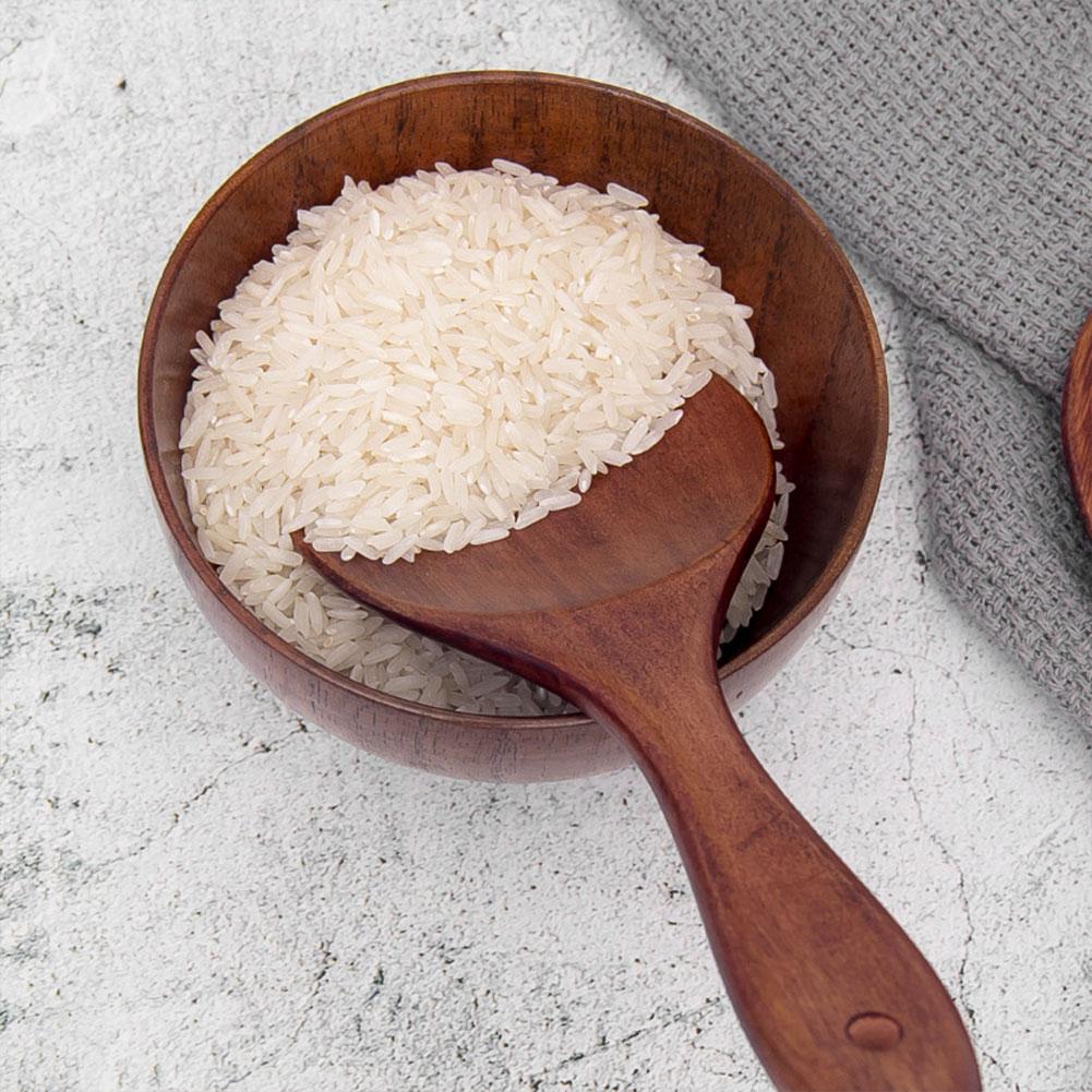 Vernuftig Houten Lepel Rijst Scoop Houten Maaltijd Spatel Kookgerei Koken Lepel Gezondheid Saft Keuken Tool Bar Aromatisch Karakter En Aangename Smaak