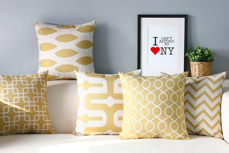 Simple Nordic Geometry Pillow S Elegant Yellow Pillow Cushion , Modern  Pillow Home Decorate Sofa Cushions