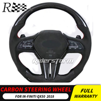 carbon steering wheel For Infiniti QX50 Q50L Carbon Fiber Steering Wheel Replace control button airbag paddle shifter 2018