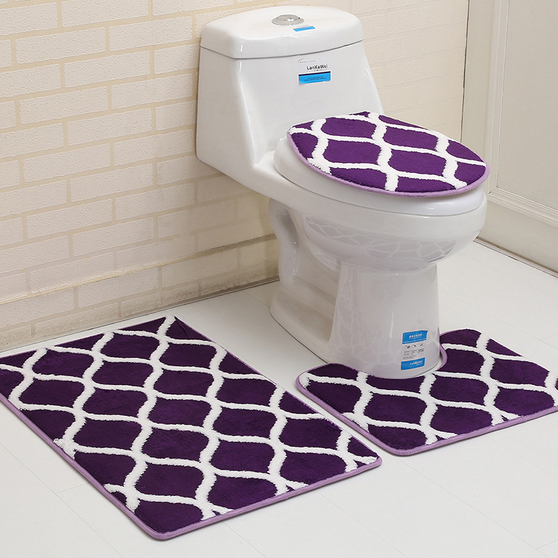 Brilliant Bathroom Toilet Seat Cover Rug Mat Moroccan Dark Red Blue Machost Co Dining Chair Design Ideas Machostcouk