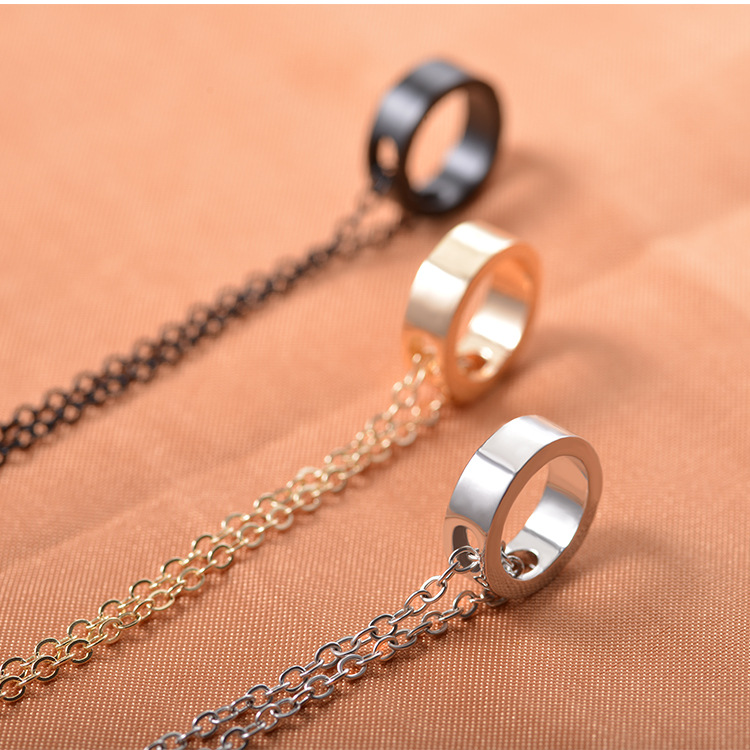 Vintage Gothic Hollow Peach Heart Pendant Necklace For Women Bridesmaid Rose Gold Stainless Steel Lover Couples Gifts
