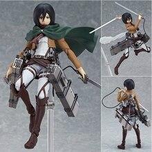 Atak na tytana figurka Mikasa Ackerman Figma 203 PVC figurka model kolekcjonerski Toy