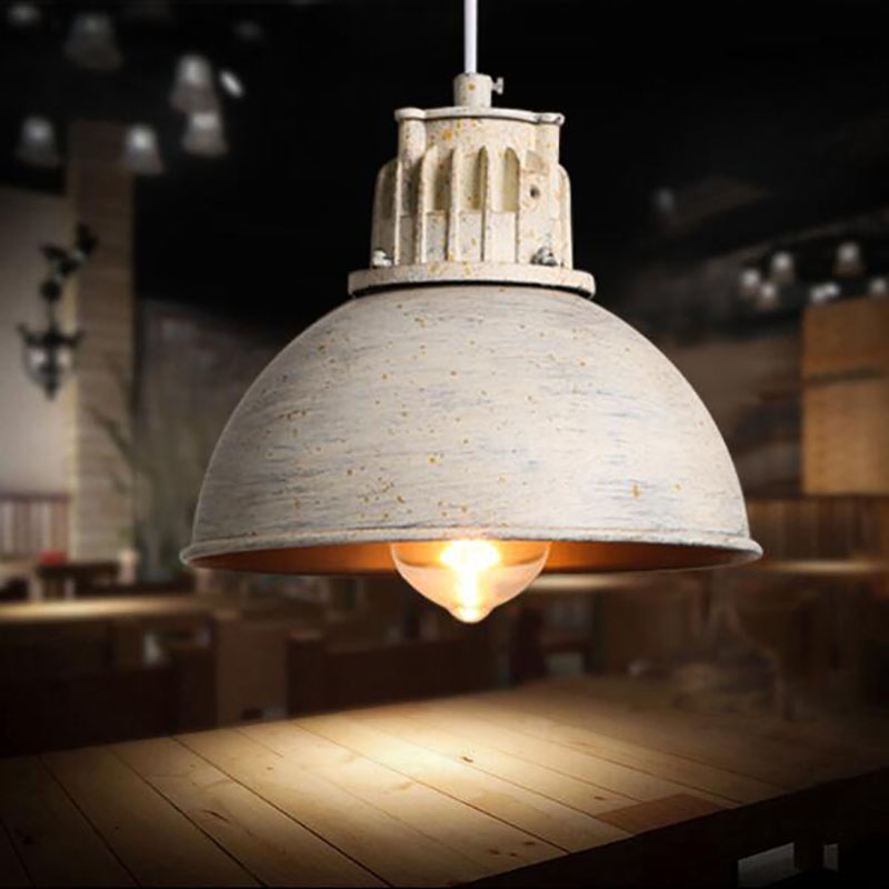 Retro industrial Pendant Lights cafe / restaurant / bar / creative personality single-head iron cover Pendant Lamp classical chinese food industry restaurant bar cafe original wood single head pendant lights rmy 0247