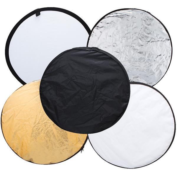 5-en-1 (43 '') or, argent, blanc, noir photographie réflecteur de lumière pliable, accessoire de Studio de haute qualité - 3