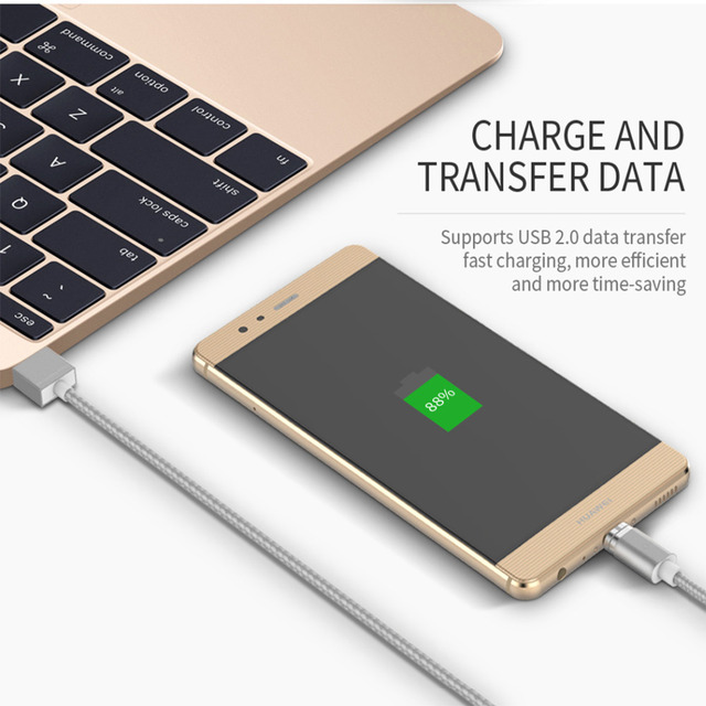 WSKEN X-cable Mini 2 Magnetic Cable USB Type C Cable For SAMSUNG S8 Plus HUAWEI ONEPLUS 3 XIAOMI Magnetic Charger Cable USB C