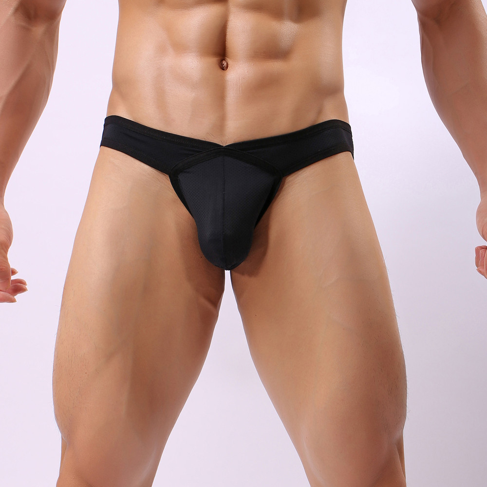 Sexy Men's Briefs Soft Breathable Silk Sexy Underwear Men's Hot Hips Up Transparent Colorful Undies Cueca Swimwear Men Hot Sale
