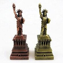 Vintage 3D torre hecha a mano modelo Estatua de la libertad ornamento estatua decoración construcción arte Mesa muestra regalos