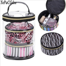 3 pieces of transparent Ms. Travel Cosmetics Storage Bags PVC Cosmetic Beauty Organizer