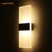6W Warm White LED Wall Lamp Bedroom Light Bedside Living Room Hallway Balcony Stairs Wall Light