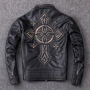 Image 5 - MAPLESTEED Distressed Leder Jacke Männer Vintage Motorrad Jacke 100% Natürliche Kalbsleder Herren Motor Jacken Biker Mantel M202