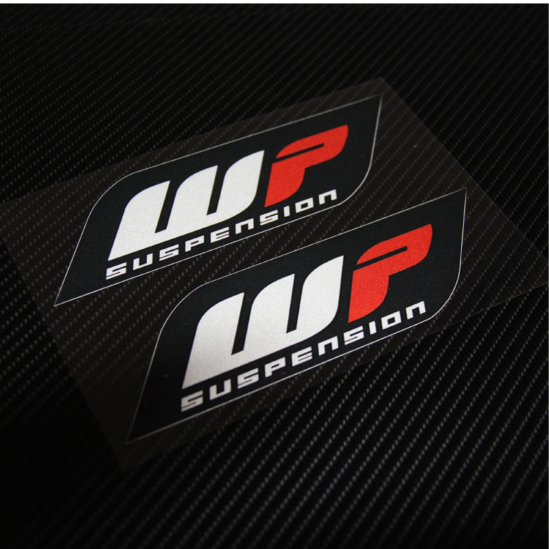 2 Pieces Emblem Sticker Decal Motorcycle For WP Suspension