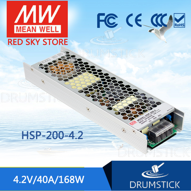Advantages MEAN WELL HSP-200-4.2 4.2V 40A meanwell HSP-200 4.2V 168W Single Output with PFC Function Power Supply все цены