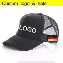 cc791842 Free Printing Baseball hat Summer Germany Patch Sewing Net Snapbacks  Kids/Adult Cap Curved Visors