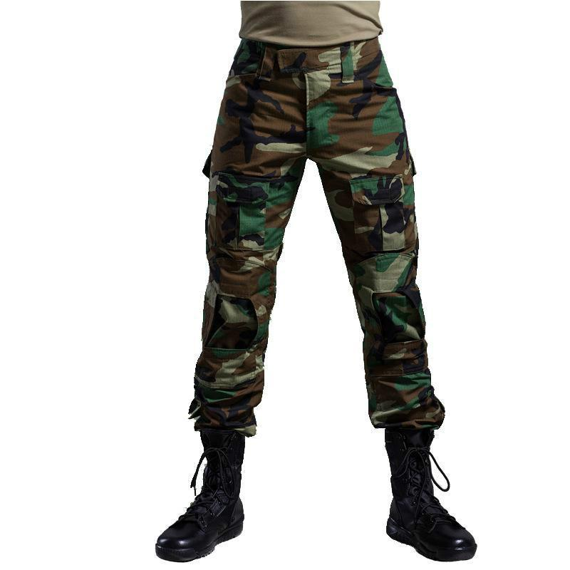 7d1f7d8edf7 Multicam Military Camouflage Pants Blind Hunting Clothing Tactical Cargo  Pants With Knee Pads Army Combat Pants