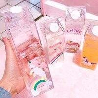 500ml unicornio Arco Iris los niños fuga-a prueba de Agua Para botella de viaje de Yoga Camping Botellas Para Agua botella de leche botella de Agua Q