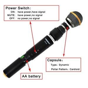 Image 3 - Freeboss KU 22 50M Werkbereik Dual Channel 2 Handheld Mic Zender Professionele Karaoke Uhf Draadloze Microfoon Systeem