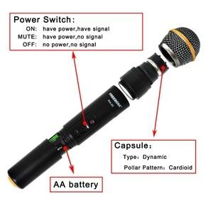 Image 3 - Freeboss transmisor de micrófono de mano KU 22 de largo alcance, doble canal, 2, sistema UHF PARA Karaoke profesional con micrófono inalámbrico