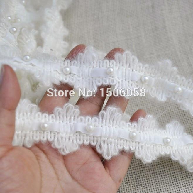⑤5 yarda/Lot rebordeó Encaje TRIM vestido de boda hecho a mano DIY ...