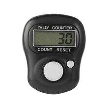 Портативный размер цифровой мини-ЖКД электронный цифровой Гольф палец рука кольцо Tally счетчик ручной счетчика серебра