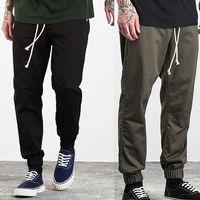 New Mens Cotton Slim Fit Tracksuit Bottoms Skinny Joggers Sweat Pants Trousers Khaki Black Green
