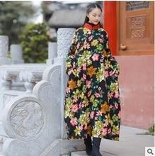 Осень 2016 новые продукты, перечисленные, оригинальный дизайн женщины свободные большие ярдов длинные хлопка мягкой одежды