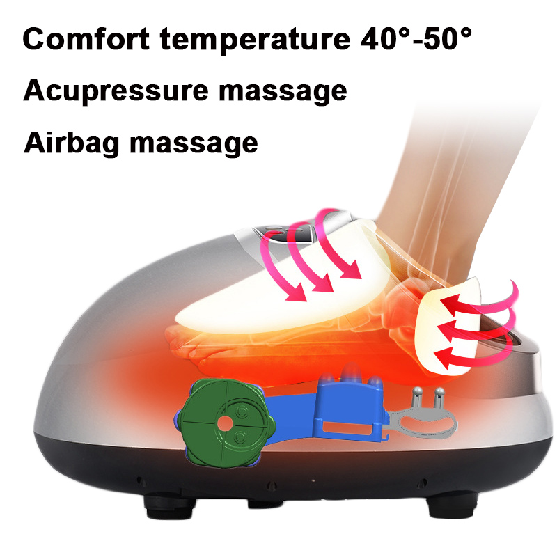 Full wrap electric foot massager pedicure machine remote control air pressure heating acupoint feet shiatsu foot massage spa in Massage Relaxation from Beauty Health