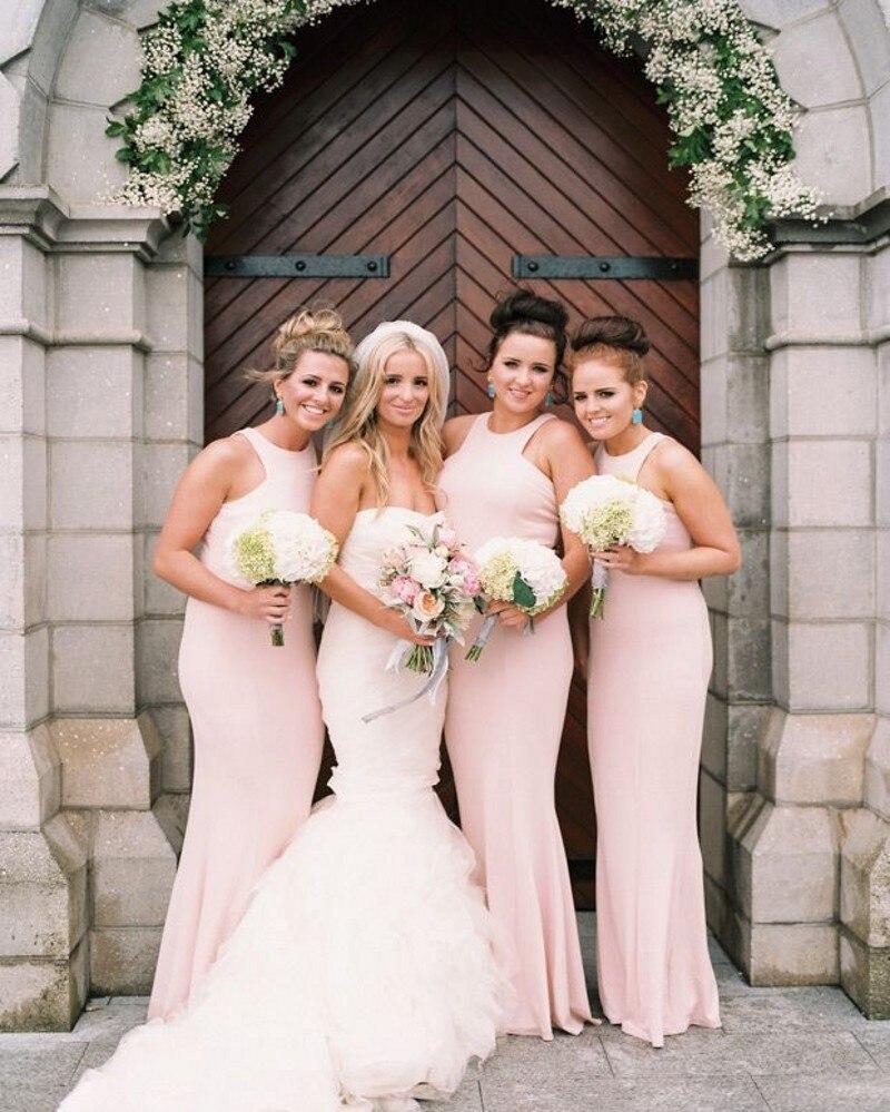 Wedding Summer Bridesmaid Dresses popular 2016 summer bridesmaid dresses buy cheap spring light pink mermaid dress sheath women long chiffon custom cheapest