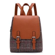 купить 2018 New Women Backpack Leather Rucksack Girls School Bag Satchel Travel Lady Backpack school bags for teenage girls по цене 1253.12 рублей