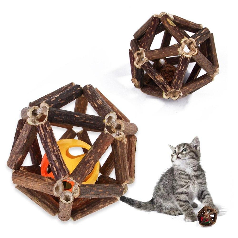 Handmade Cat Toys Ball Sticks Catnip Organic Natural Silvervine Supplies Pet
