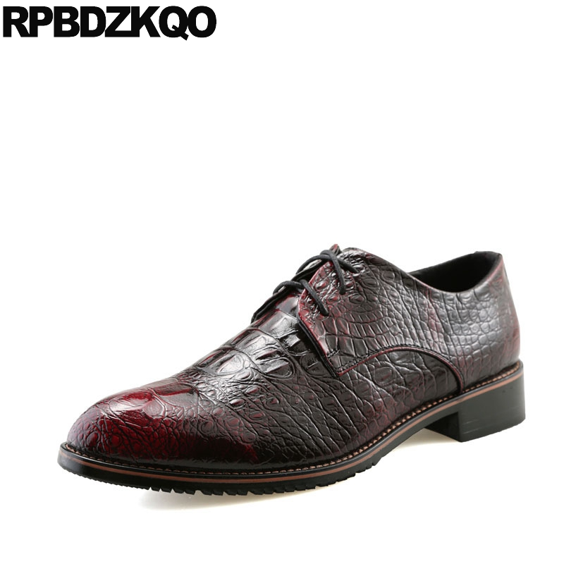 Men's Shoes Formal Shoes Large Size Rivet Stud Brogue Snakeskin 47 Snake Wedding 11 Prom Stylish Square Toe Skin Men Dress Italian Leather Shoes Black