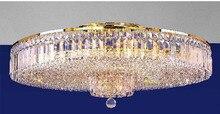Современный золото кристалл потолок лёгкие светильник гостиная кристалл потолок лёгкие гарантировано 100%