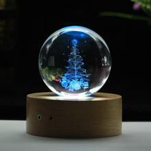 Crystal Ball Personalized Transparent 3D Laser Engraved Quartz Glass Globe Miniatures Decoration Ornaments Gifts 13 Designs