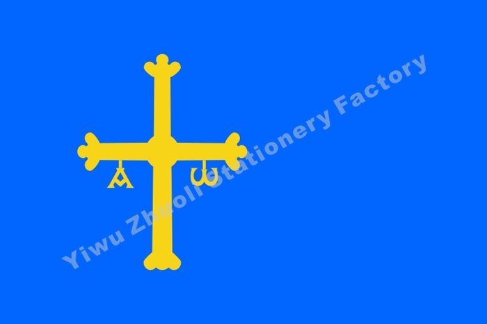Asturias Flag 150X90cm (3x5FT) 120g 100D Polyester Double Stitched High Quality Free Shipping Spain Autonomous Regions