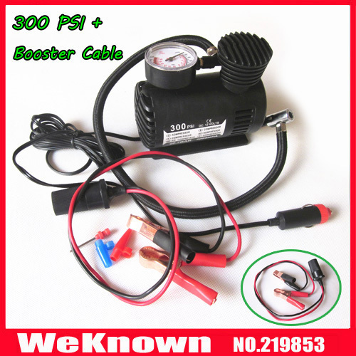 12V Car Auto Electric Pump Air Compressor Portable Tire Inflator 300PSI