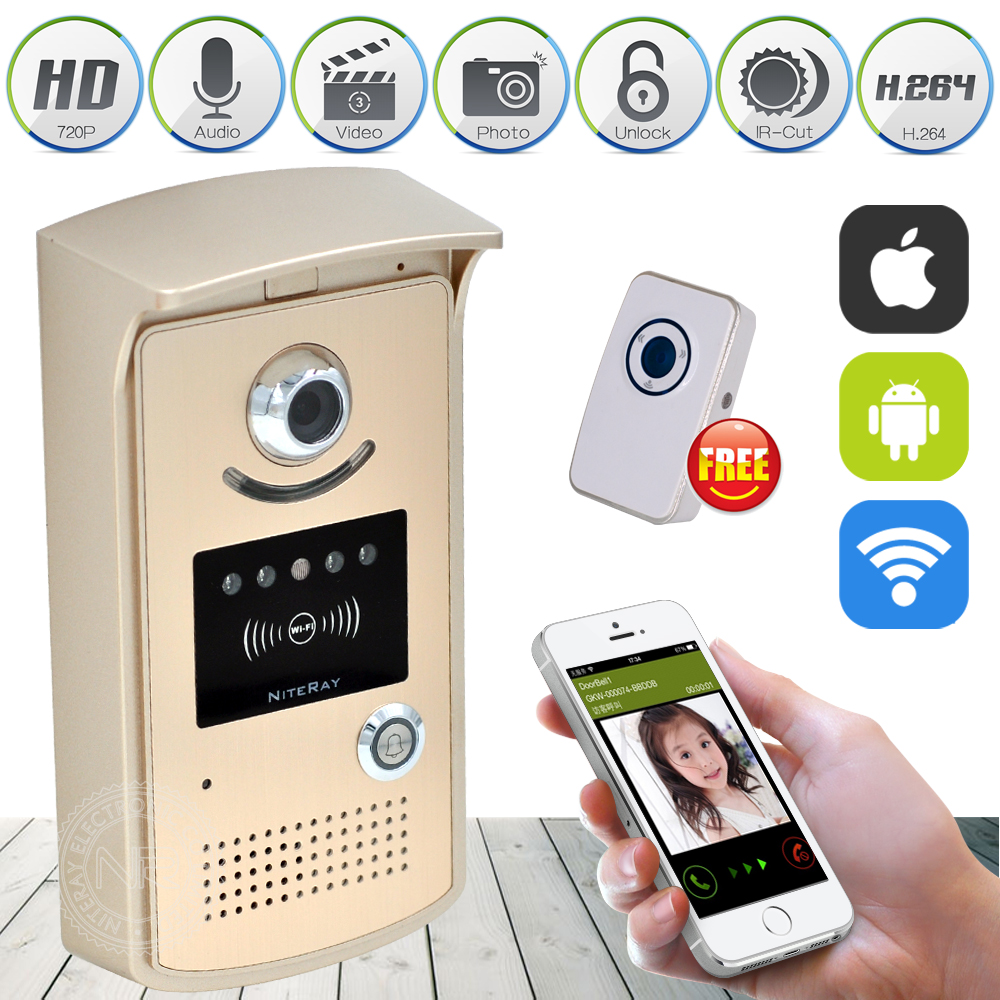 High sensitive Wireless IP Wifi Doorbell Intercom Peephole Video Door Phone Camera + indoor Door bell Support IOS Android  new wifi global doorbell camera wireless video intercom ip video door phone wireless door bell