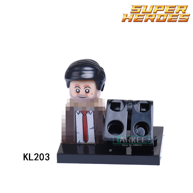 Educational Blocks Mr Bean Action Figures Super Heroes Star Wars Building Bricks Kids DI ...