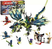 Bela Ninjagoes Attack of the Morro Dragon Building Block Set Kai Jay Wrayth Cowler Yokai Minifigures legoe 70736 Compatible