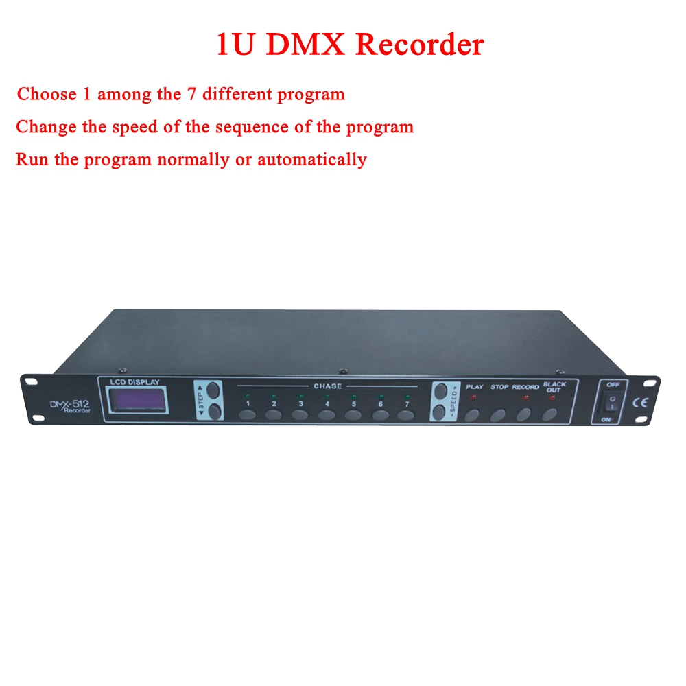 NOVO 1342 1U DMX Recorder/Loja de Programa Em Execução Console Display LCD Painel De Controle De Luz Para KTV/CLUBE/ sala de discoteca