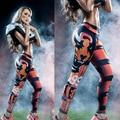 Ноги красоты брюки для похудения для тела юга длинное здание леггинсы 3D тигр 99 тренировки брюки