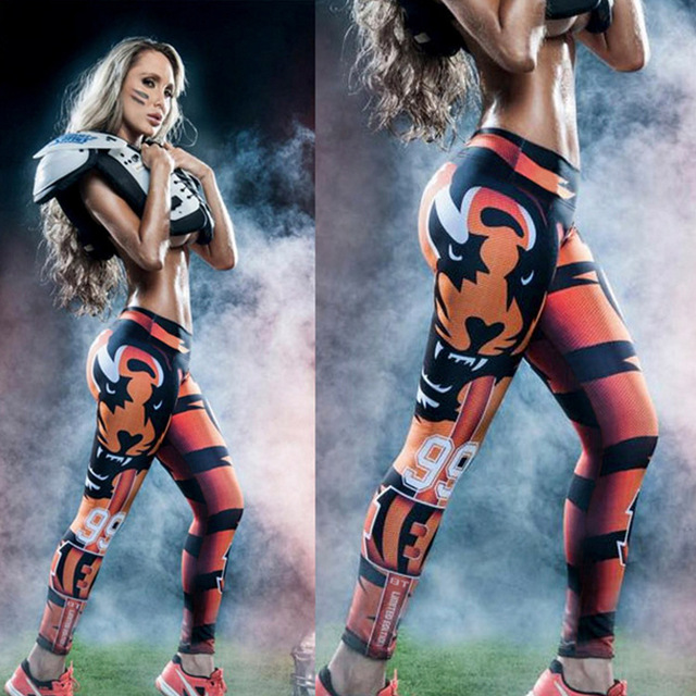 beauty legs slimming body  pants yuga long building  legging 3D tiger 99 workout pants
