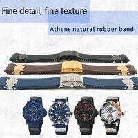 Ремешок Браслет силикагель часы для Ulysse Nardin DIVER водонепроницаемые резиновые часы спортивный 22 мм Человек Цвет: черный, синий коричневый