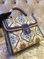Europe's new handbag shoulder bag handbag Xiekua package cow bag casual fashion Commuter Bag