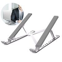 SOONHUA Portable Adjustable Laptop Stand Holder Foldable PC Notebook Computer Holder Stands Laptop Accessories