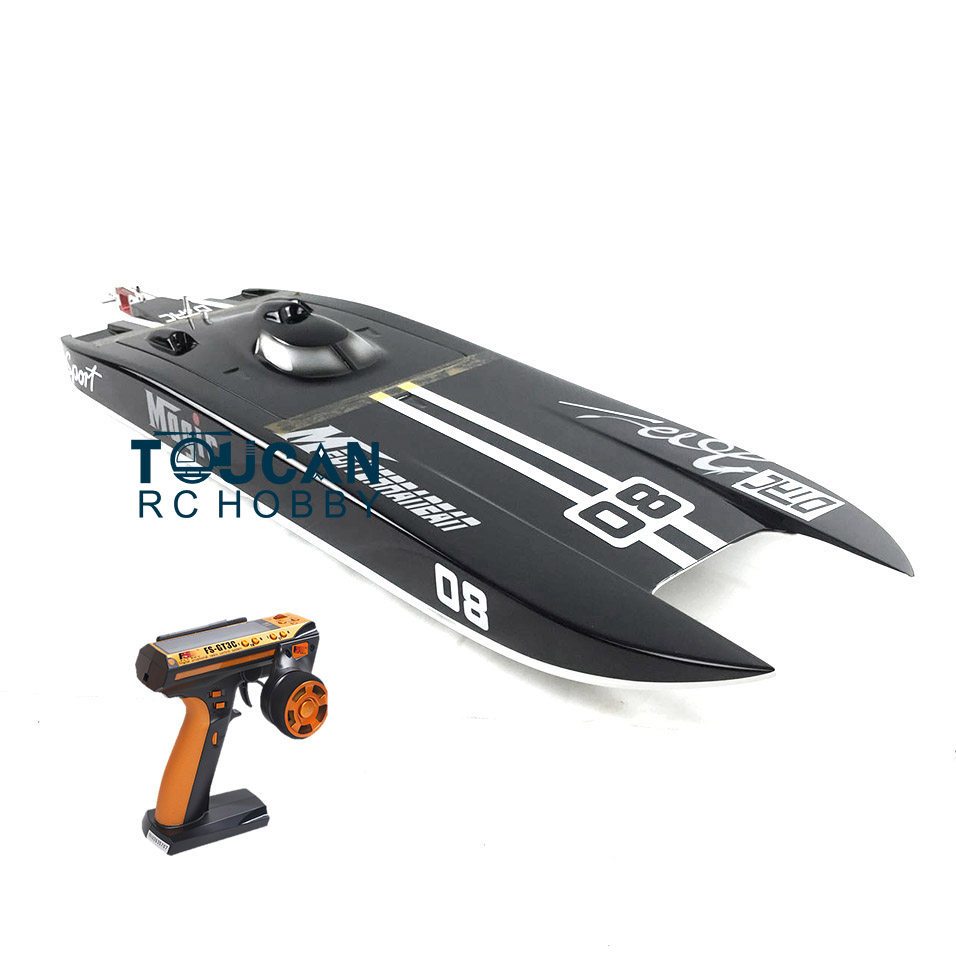 E32 RTR Germany Cat Fiber Glass Electric Racing Speed RC Boat W/120A ESC/3200KV Brushless Motor/Radio System-Black e22 rtr tiger teeth fiber glass racing speed boat w 2550kv brushless motor 90a esc remote control catamaran rc boat white