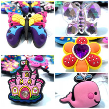 Shoe-Charms Crystal Children Flower Gift 10pcs Castle Whale Mixed Butterfly High-Quality
