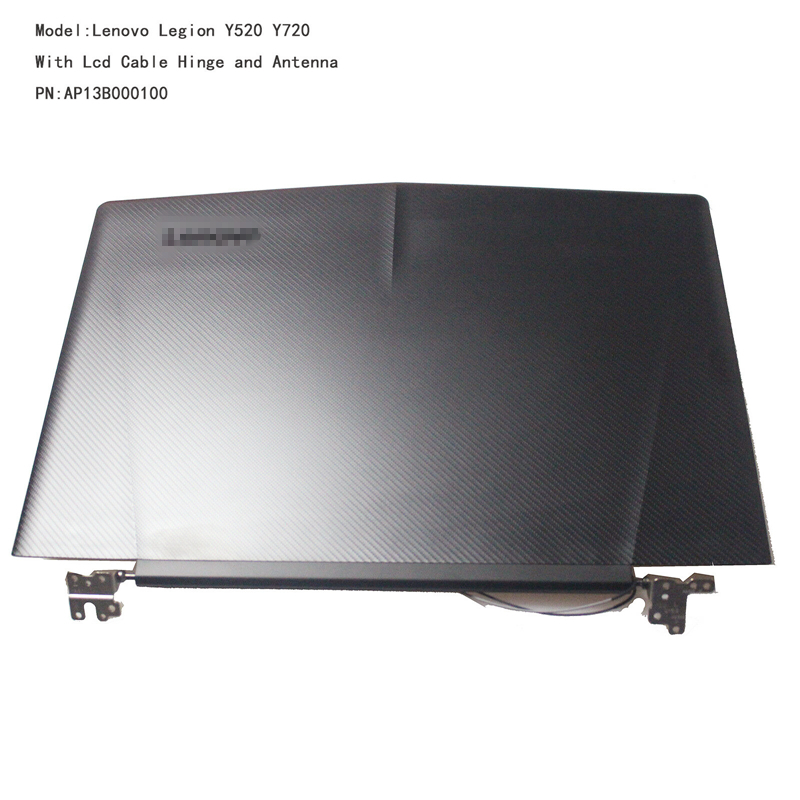 Orig NEW for <font><b>Lenovo</b></font> Legion <font><b>Y520</b></font> R720 Lcd Cover Rear Lid Back Cover Top <font><b>Case</b></font> Housing w/hinges & cable AP13B000100 5CB0N00250 image