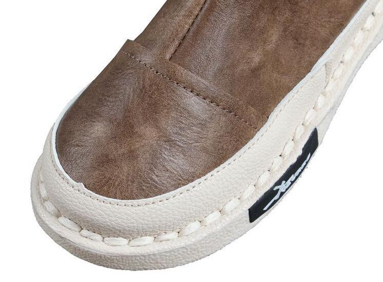 Careaymade-Japanese women's short boots, flat bottomed boots, artistic soft girls antique casual boots, handmade Martin boots