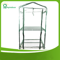 Garden Supplies Agriculture Greenhouse Plastic Greenhouses Folding Mini Plant Protector Flower Warm Room Clear PVC Screen