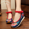 Vintage Embroidery Women Flats Shoes Spring Autumn Chinese Woman Tourism Embroidered Floral Single Walking Dance Flat