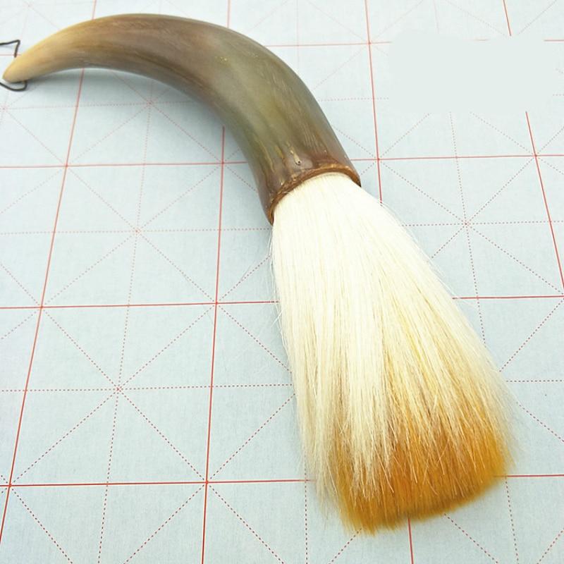 High quality large hopper-shaped brush bent horn calligraphy brush fine decorative multiple hairs brush pen writing brushes